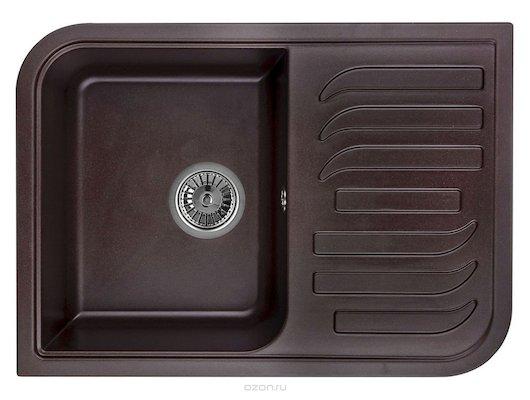 Кухонная мойка Weissgauff SOFTLINE 695 Eco Granit шоколад