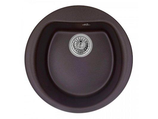 Кухонная мойка Weissgauff RONDO 500 Eco Granit шоколад