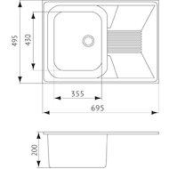 Фото Кухонная мойка Weissgauff CLASSIC 695 Eco Granit белый