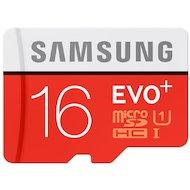 Карта памяти Samsung microSDHC 16Gb EVO PLUS Class 10 UHS-I + адаптер (MB-MC16DA)