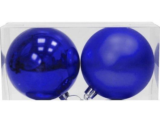 Игрушка ЯРКИЙ ПРАЗДНИК 16575 Набор синих шаров 10см 2шт