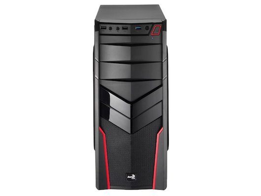 Корпус Aerocool V2X black red