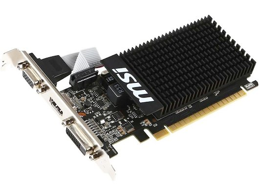 Видеокарта MSI PCI-E GT 710 1GD3H LP nVidia GeForce GT 710 1024Mb 64bit Ret low profile
