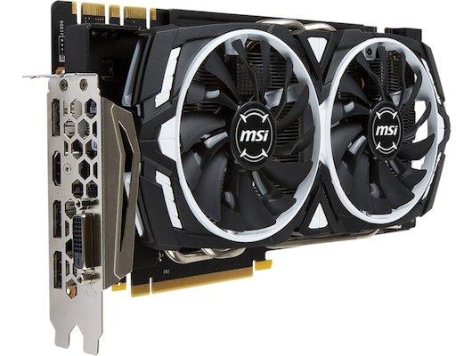 Видеокарта MSI PCI-E GTX 1070 ARMOR 8G OC nVidia GeForce GTX 1070 8192Mb 256bit Ret