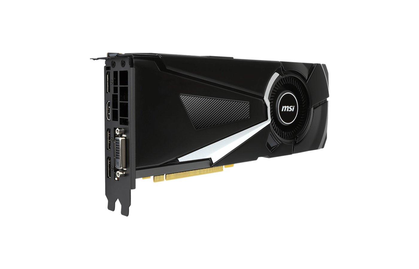 Видеокарта MSI PCI-E GTX 1080 AERO 8G OC nVidia GeForce GTX 1080 8192Mb 256bit Ret
