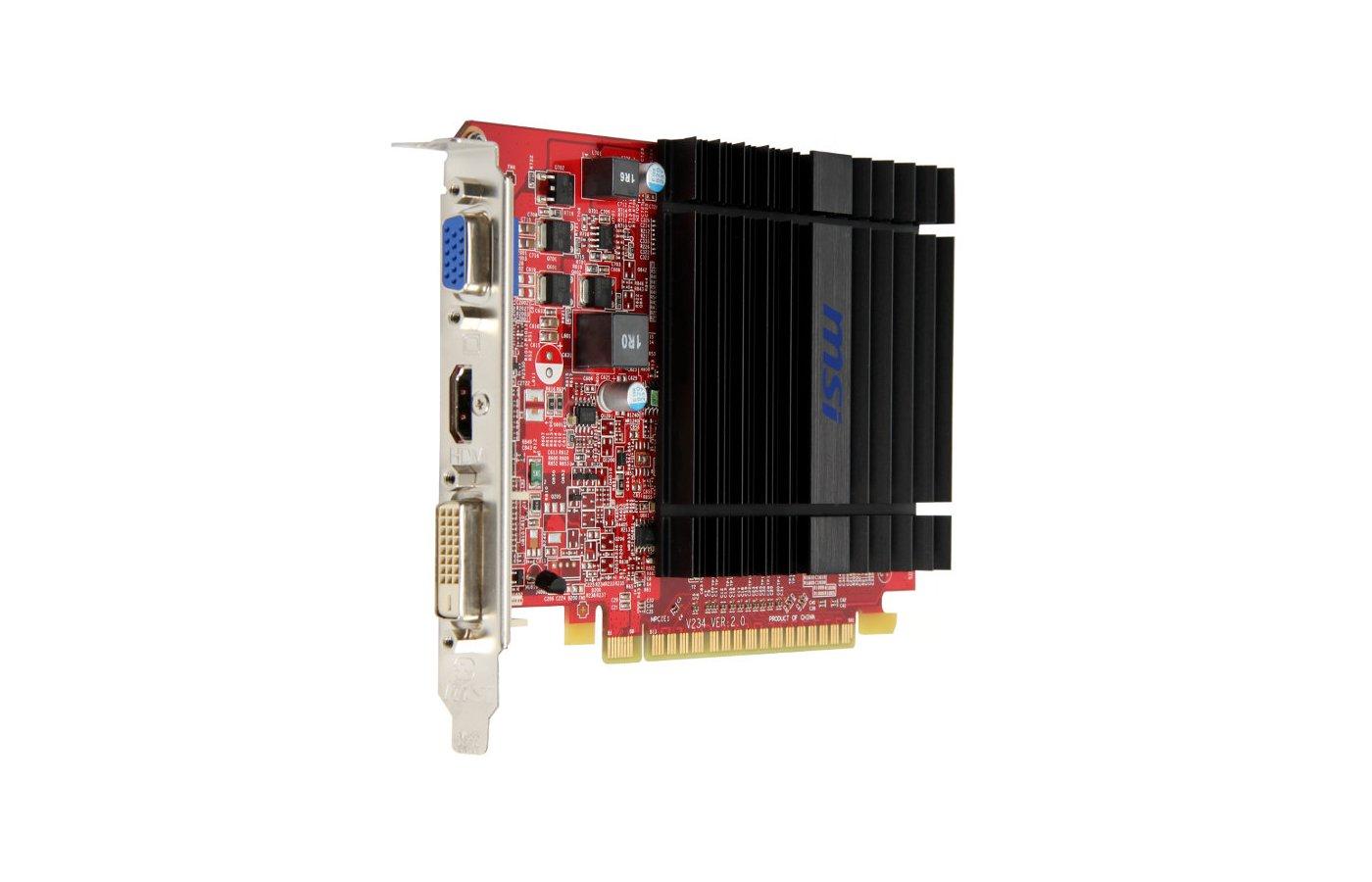 Видеокарта MSI PCI-E R5 230 1GD3H AMD Radeon R5 230 1024Mb 64bit Ret