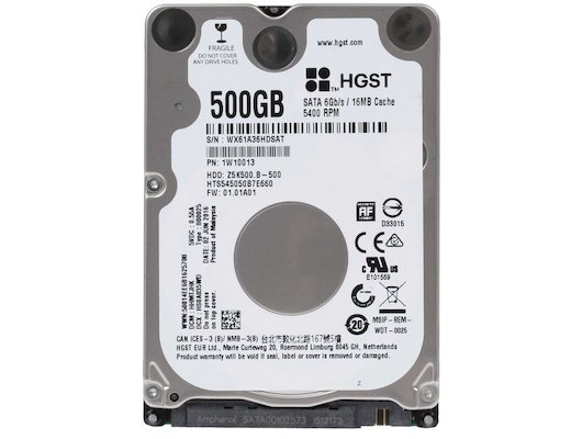 "Жесткий диск HGST SATA-III 500Gb 1W10013 HTS545050B7E660 Travelstar Z5K500.B (5400rpm) 16Mb 2.5"""