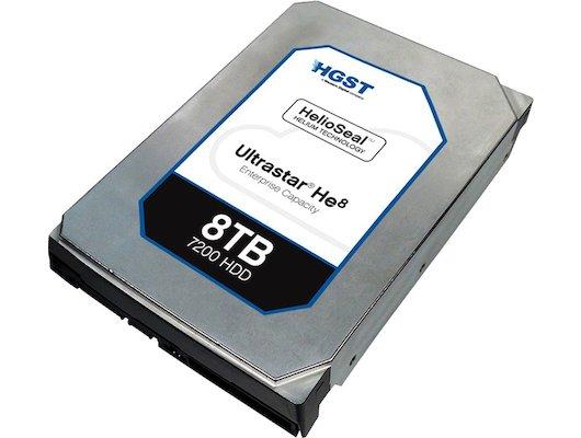 """Жесткий диск HGST SATA-III 8Tb HUH728080ALE604 Ultrasta HE8 (7200rpm) 128Mb 3.5"""""""