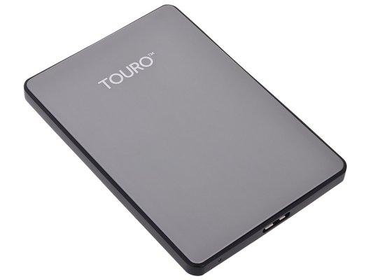 """Внешний жесткий диск HGST 0S03699 HTOSEC5001BHB 500Gb Touro S (7200 об/мин) 2.5"""" серый"""