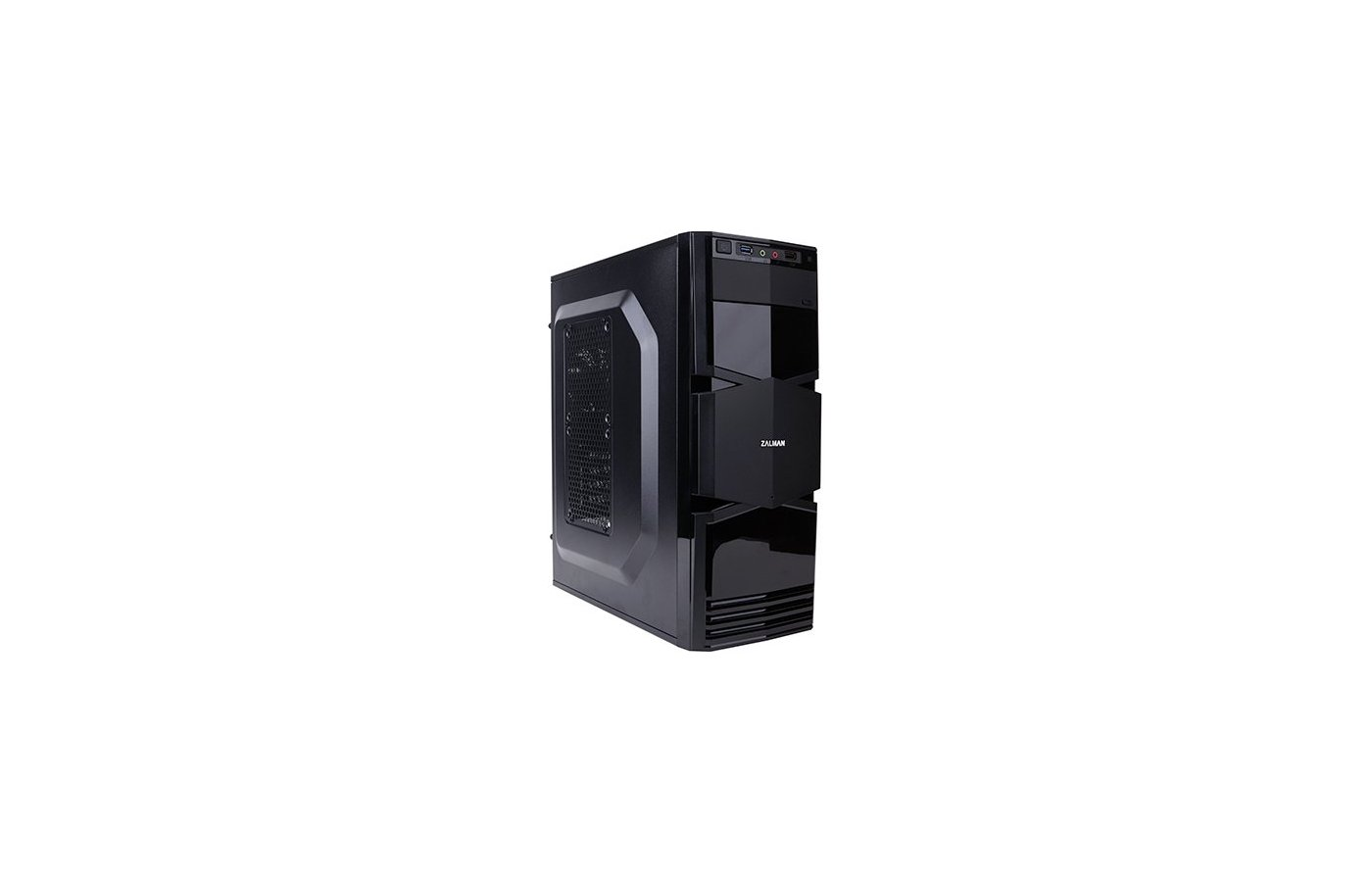 Корпус Zalman ZM-T3 черный w/o PSU mATX 1x80mm 3x120mm 1xUSB2.0 1xUSB3.0 audio bott PSU