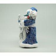 Фото Сувенир ЯРКИЙ ПРАЗДНИК 16570 Дед мороз 30см синий