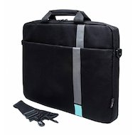 "Кейс для ноутбука PC PET PCP-1001TQ 15.6"" Polyester HQ Classic Toplader Front compartment Turquoise Черный"