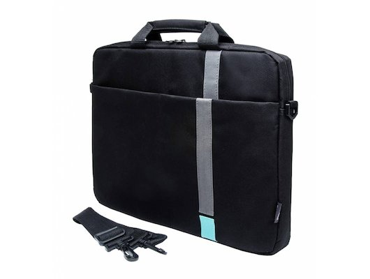 "Кейс для ноутбука PC PET PCP-1001TQ 15.6"" Polyester HQ Classic Toplader Front compartment Turquoise Черный"