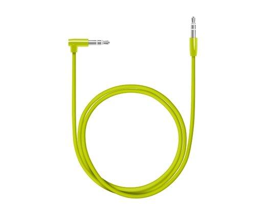 Кабель Deppa AUX Slim L коннектор 3.5(m)-3.5(m) зеленый