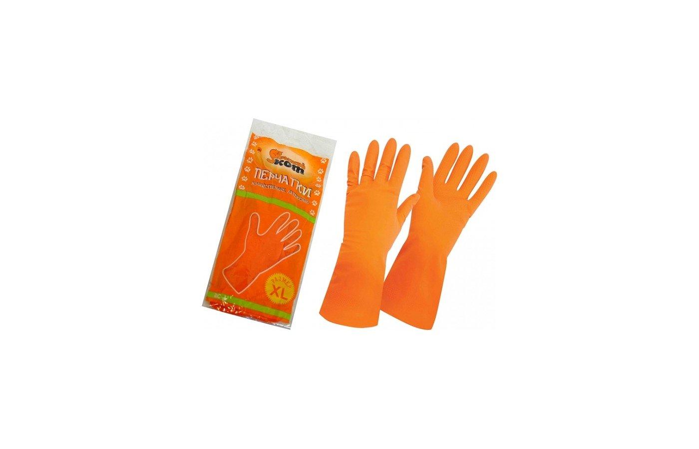 Инвентарь для уборки РЫЖИЙ КОТ Перчатки латексные RC-L (размер L)