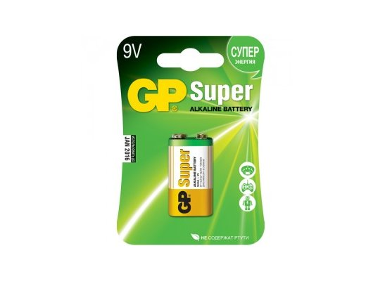 Батарейка GP 1604A 1шт. (6LF22/6LR61) BL1