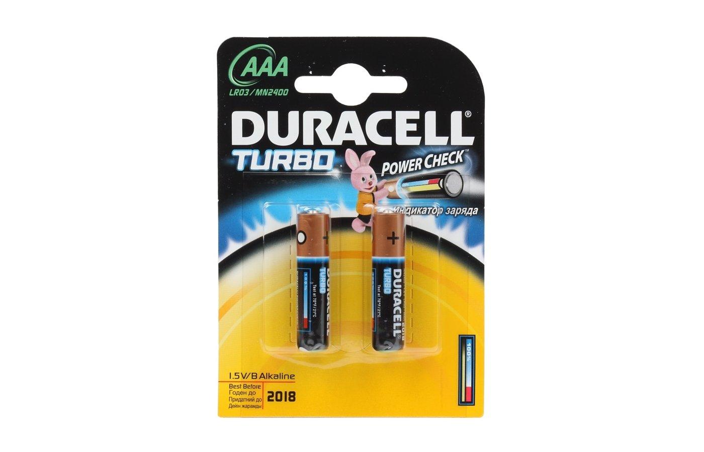 Батарейка Duracell LR03 Turbo BL2/4/8