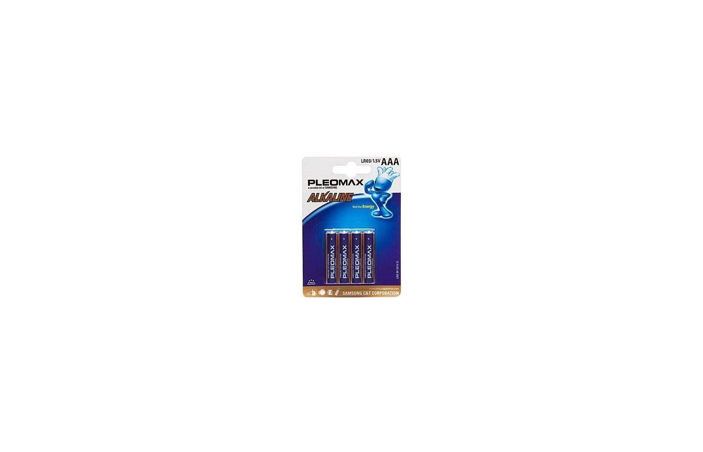 Батарейка Samsung Pleomax LR03 4BL