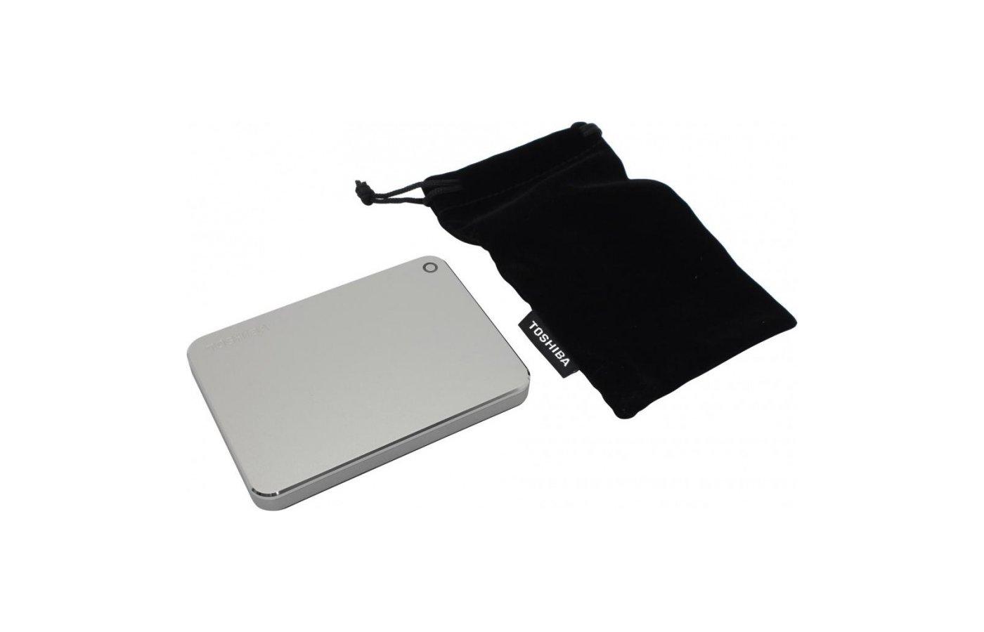 """Внешний жесткий диск Toshiba HDTW110ECMAA 1Tb Canvio Premium for Mac 2.5"""" серебристый"""