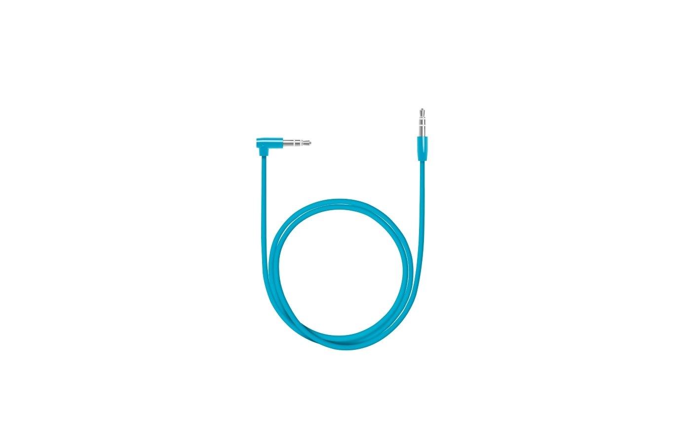 Кабель Deppa AUX Slim L коннектор 3.5(m)-3.5(m) синий