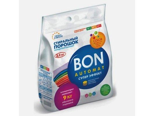 Средства для стирки и от накипи BON BN-128 Конц. стиральный порошок 3кг Супер Эффект COLOR с поддержкой цвета
