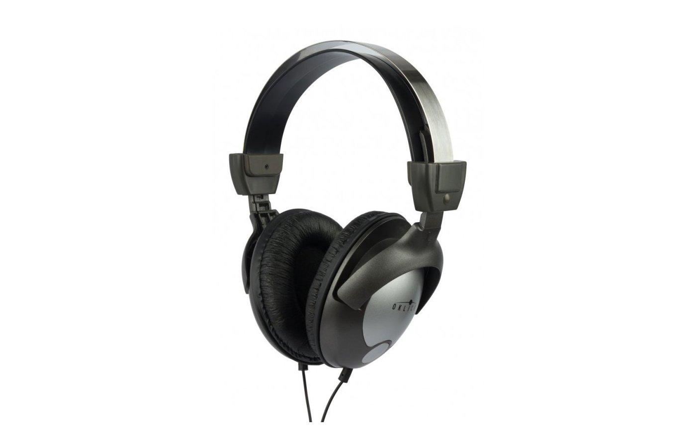 Наушники с микрофоном проводные Oklick HP-M212V