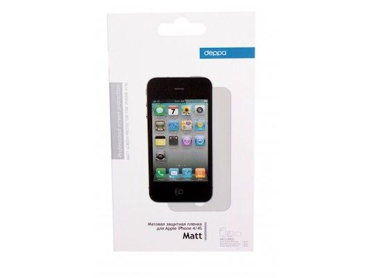Стекло Deppa пленка для iPhone 4/4S глянцевая 2-х сторонняя