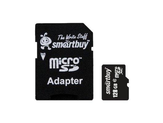 Карта памяти SmartBuy microSDXC 128Gb Class 10