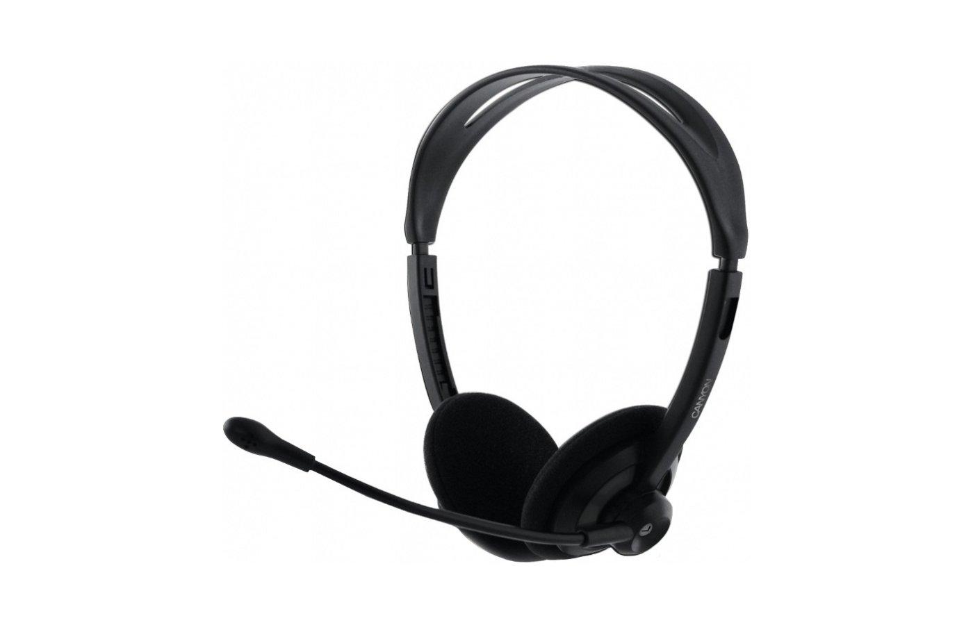 Наушники с микрофоном проводные CANYON CNR-FHS 04 Black