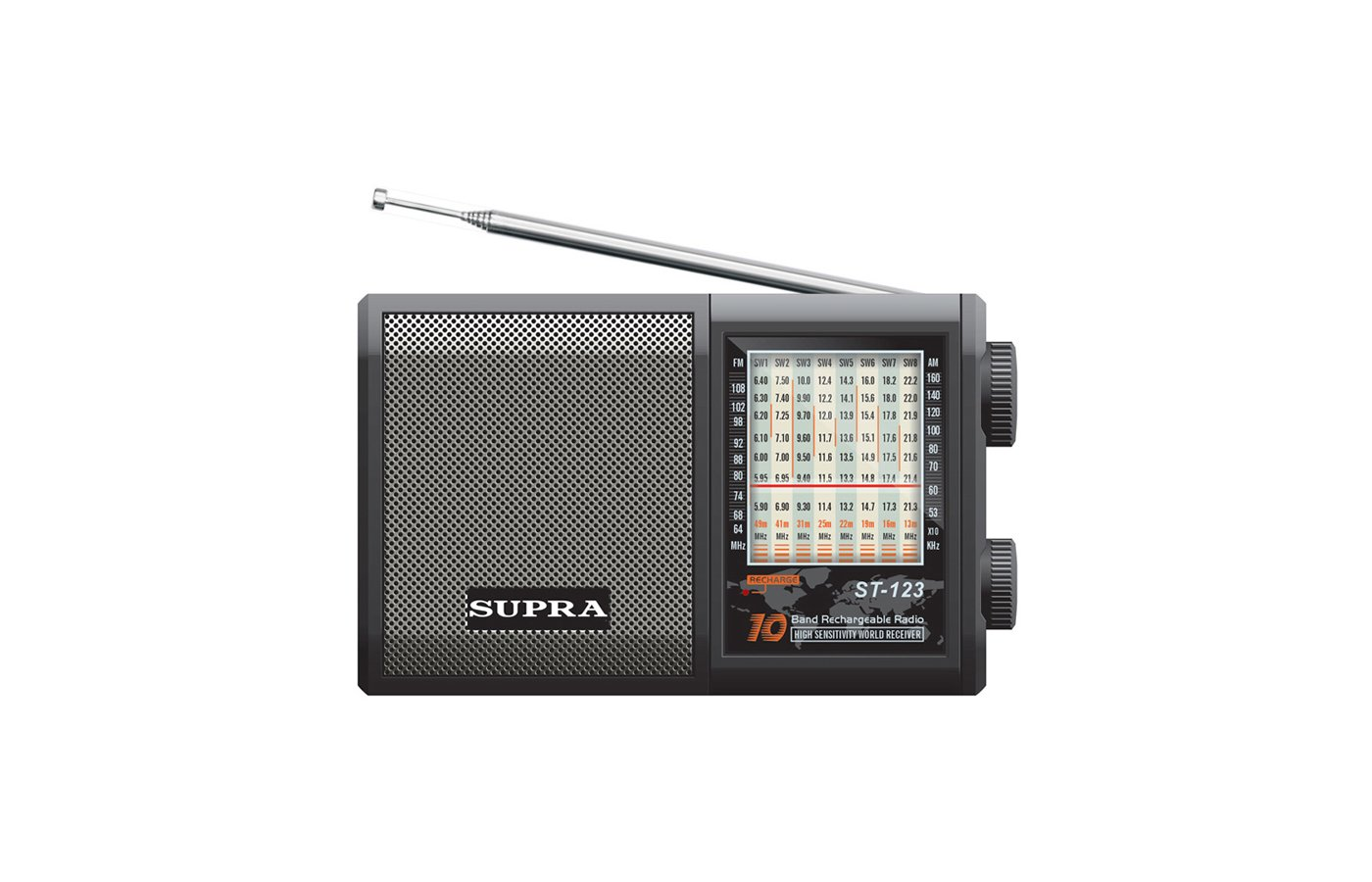 Радиоприемник SUPRA ST-123 black