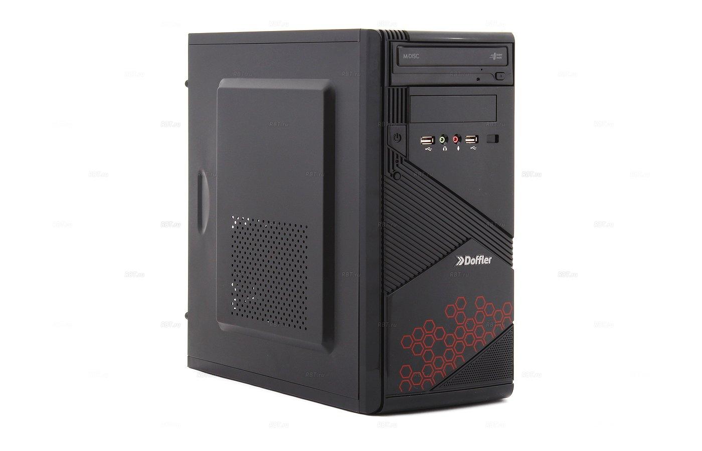 Системный блок Doffler i001R Game intel i5 520M x2 2.4Gh/8Gb/1Tb/R7 360 2Gb DDR5/DVDRW/DOS