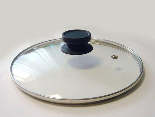 крышка до 24 см TIMA 4724 Крышка стеклянная 24 см с пароотводом 848-050