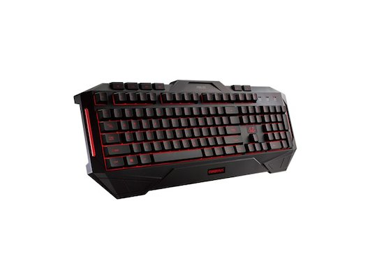 Клавиатура проводная Asus CERBERUS черный USB Multimedia LED