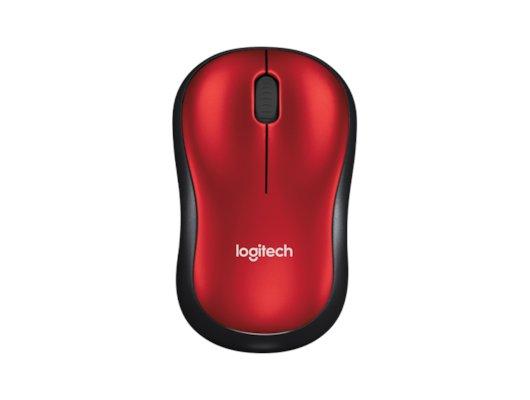 Мышь беспроводная Logitech M185 red