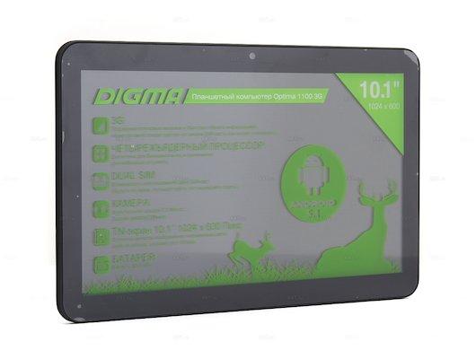 Планшет Digma Optima 1100 3G (10.1) /TT1046PG/ 8Gb/3G/Black