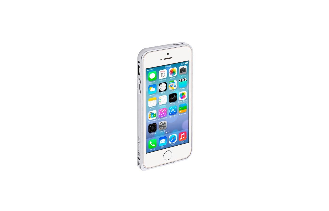 Чехол Deppa Alum iPhone 5/5S/SE серебро