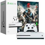 Microsoft Xbox One S 1Тб + Gears of War 4 + карта подписки Live на 3 месяца (234-00013-1)