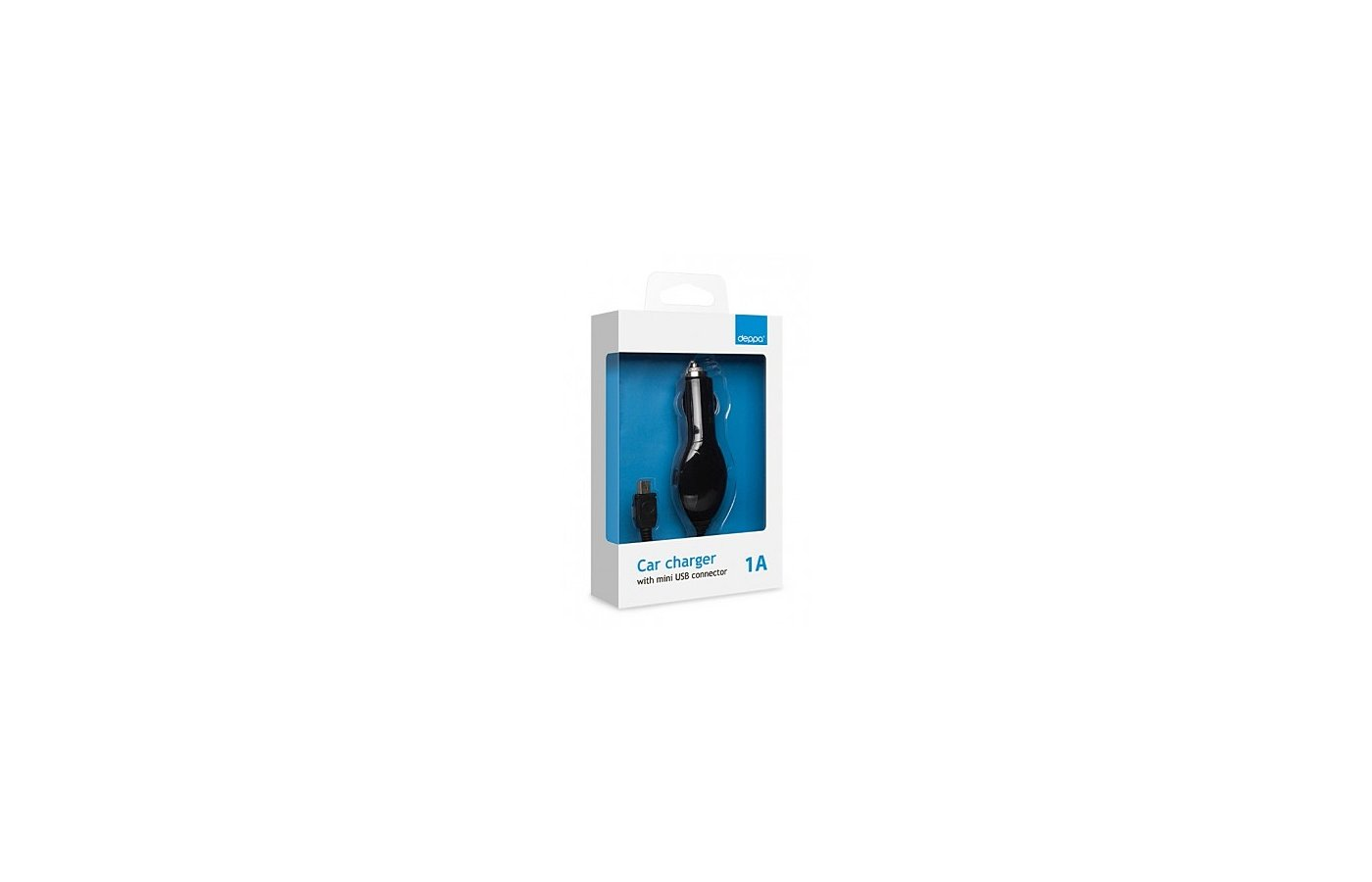 Зарядное устройство Deppa Mini USB 1000mAh, черный