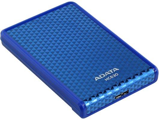 Внешний жесткий диск A-Data 500Gb AHC630-500GU3-CBL blue