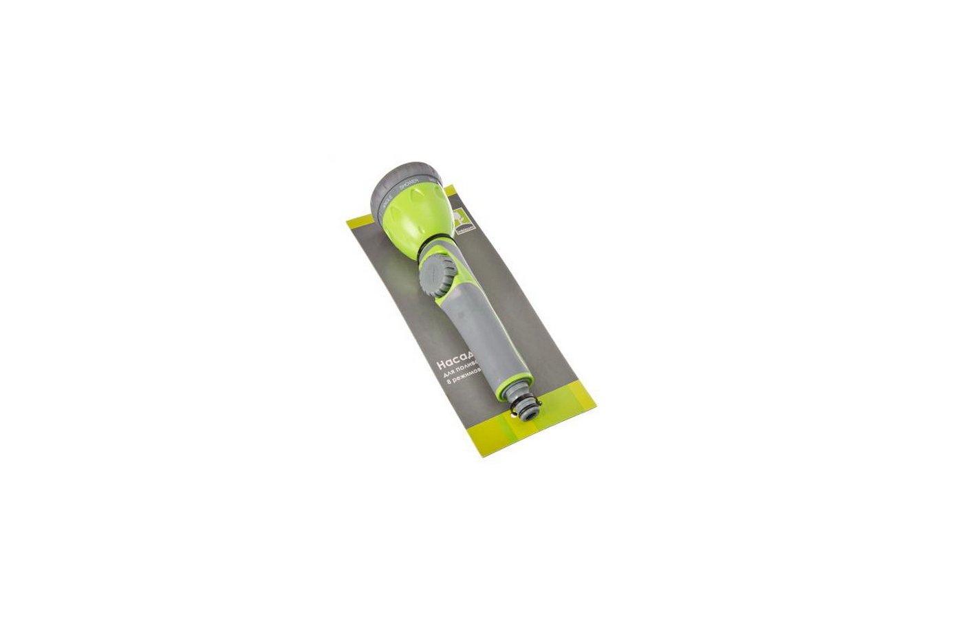Поливочное оборудование INBLOOM Насадка для полива 8 режимов пластик 161-001