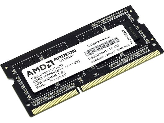 Оперативная память AMD R532G1601S1S-UO OEM PC3-12800 DDR3 2Gb 1600MHz CL11 SO-DIMM