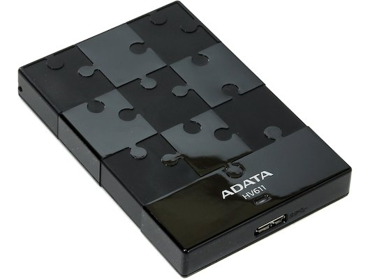 Внешний жесткий диск A-Data 1Tb AHV611-1TU3-CWH white
