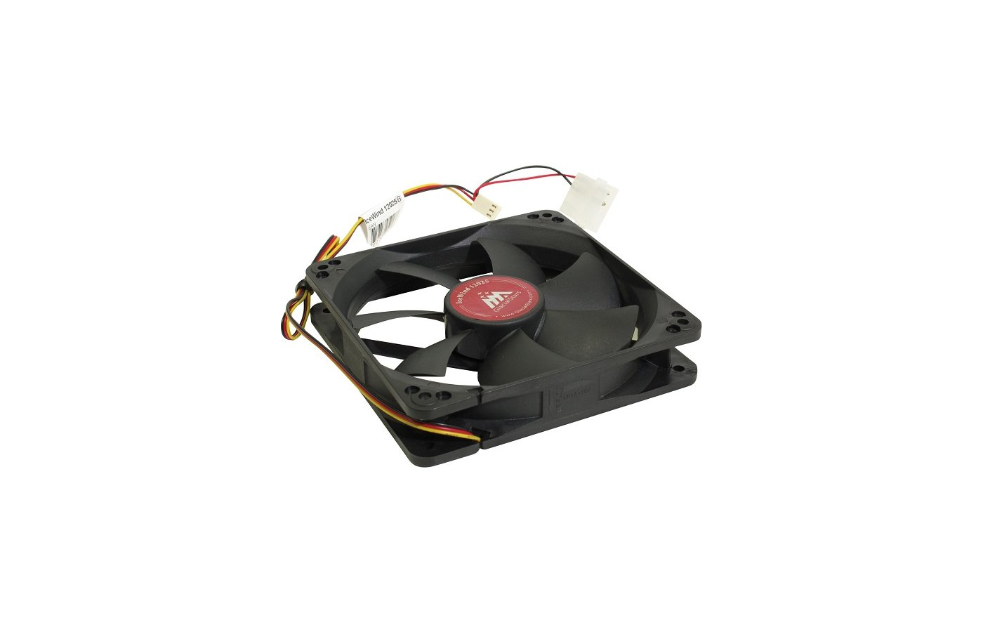 Охлаждение Glacialtech IceWind 12025 120x120x25 3pin+4pin (molex) 20dB 110g BULK для корпуса