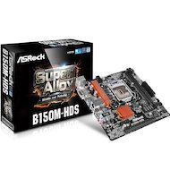 Фото Материнская плата Asrock B150M-HDS Soc-1151 Intel B150 2xDDR4 mATX AC`97 8ch(7.1)