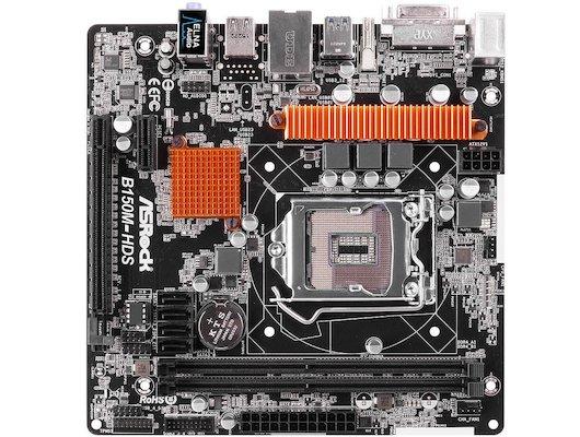 Материнская плата Asrock B150M-HDS Soc-1151 Intel B150 2xDDR4 mATX AC`97 8ch(7.1)