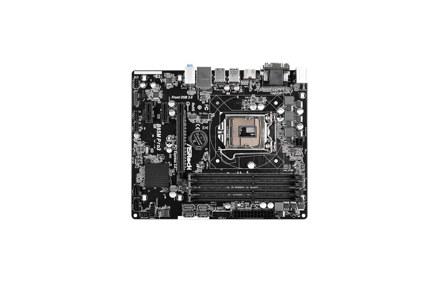 Материнская плата Asrock B85M Pro3 Soc-1150 Intel B85 4xDDR3 mATX AC`97 6ch(5.1)