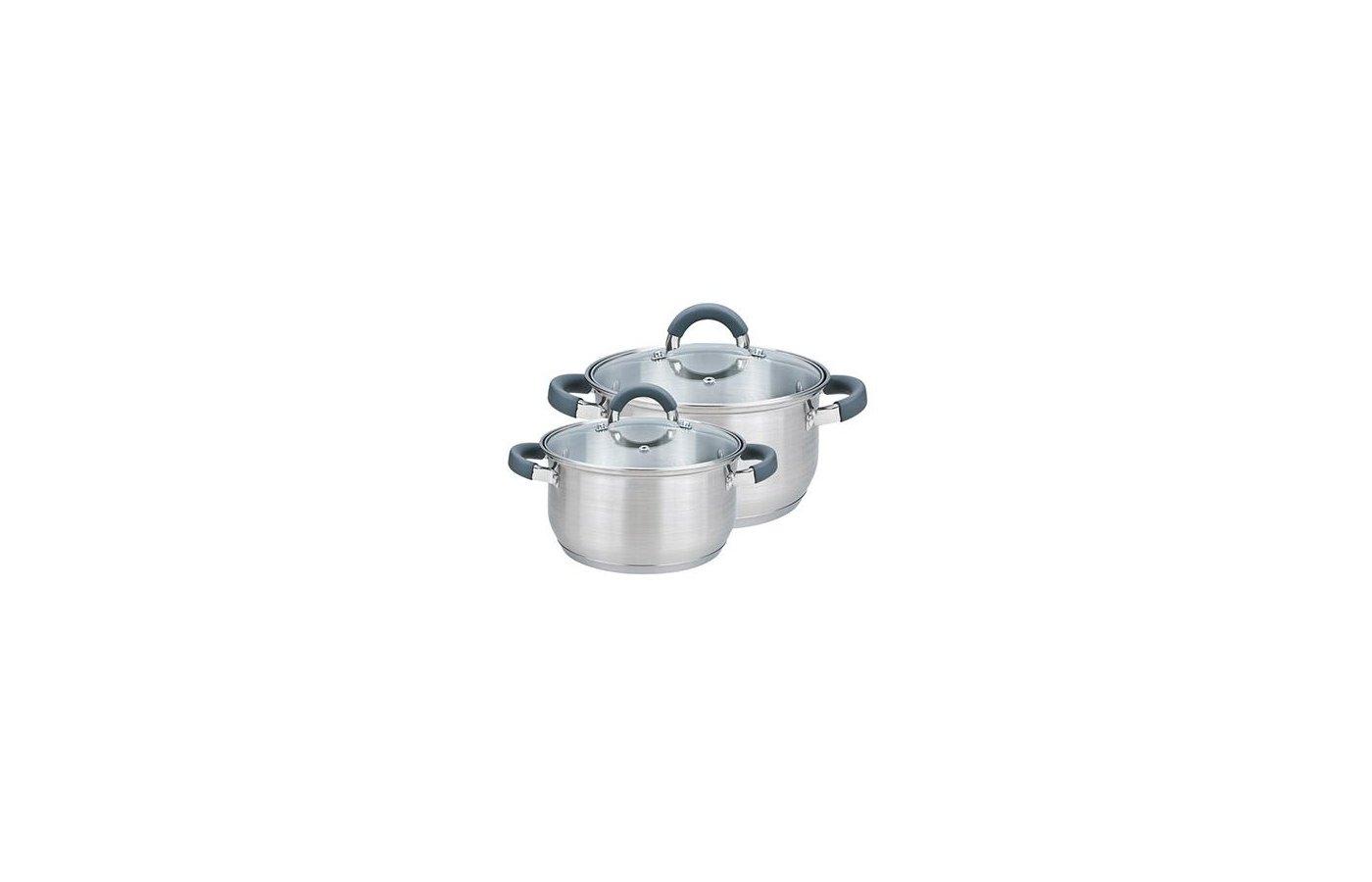 Набор посуды VETTA 822-008 Вена Набор кастрюль 2 кастр. (1.9л.+3.6л) со стекл. крышками