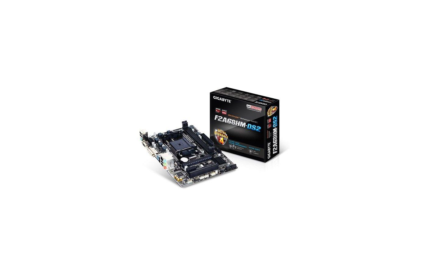 Материнская плата Gigabyte GA-F2A68HM-DS2 Soc-FM2+ AMD A68H 2xDDR3 mATX AC`97 8ch(7.1)