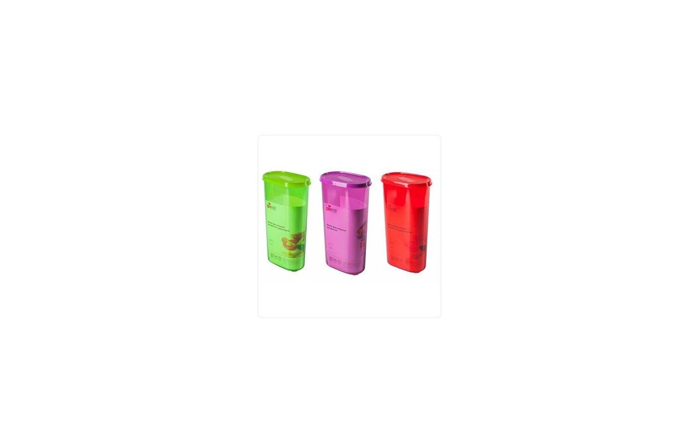 контейнеры для продуктов Plastic Centre ПЦ2229 Банка для сыпучих продуктов Galaxy 2.4л