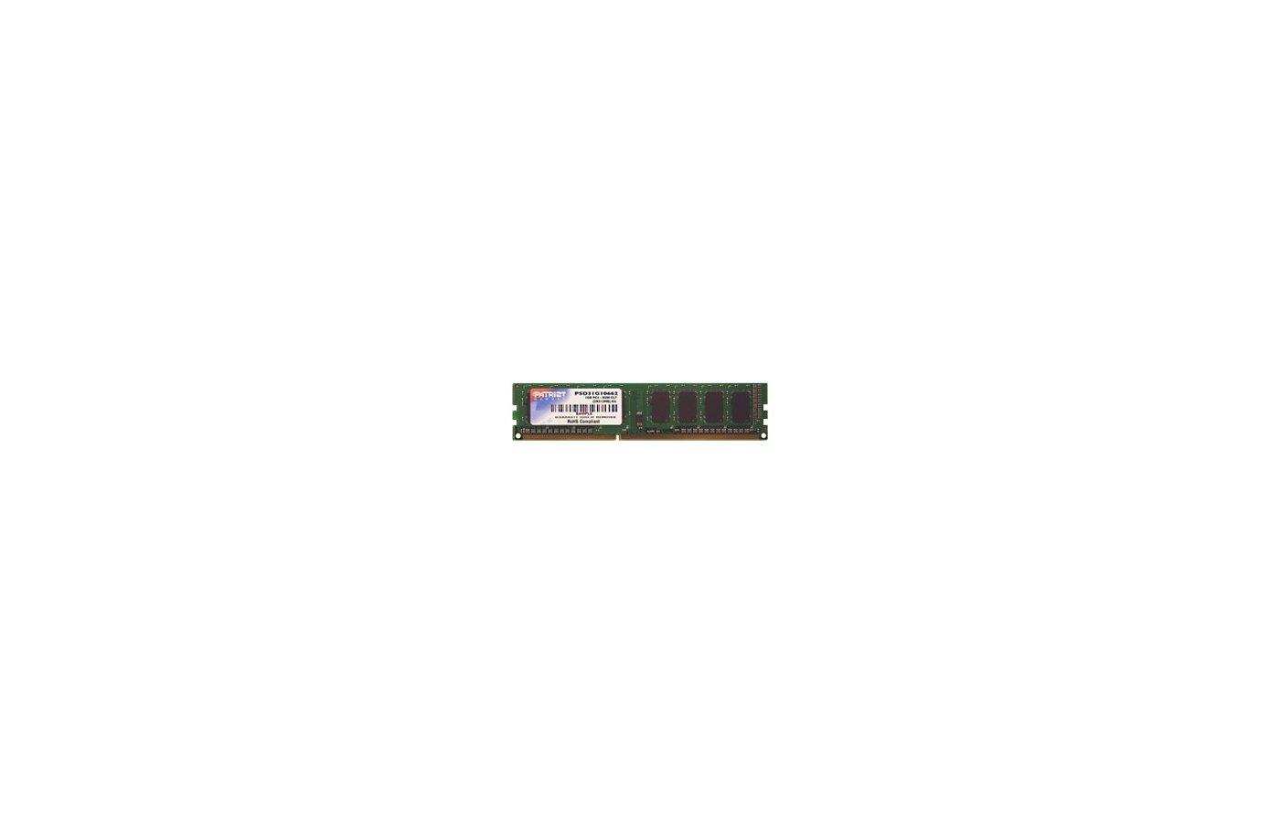Оперативная память Patriot PSD31G133381 RTL PC3-10600 DDR3 1Gb 1333MHz